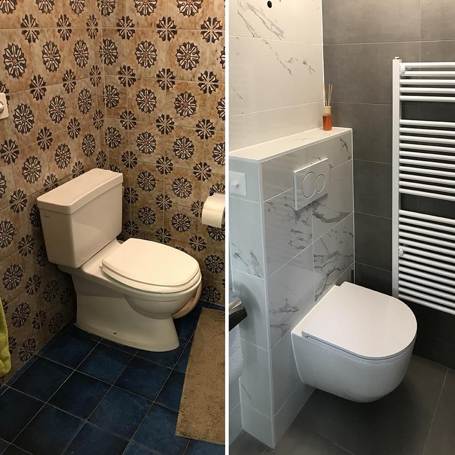 Rénovation d'une salle de bain - WC